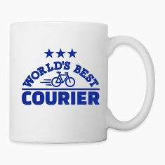 World's best bike courier Mugs & Drinkware