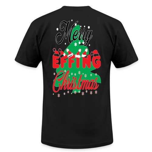 merry effing xmas. T-Shirts - Men's Fine Jersey T-Shirt