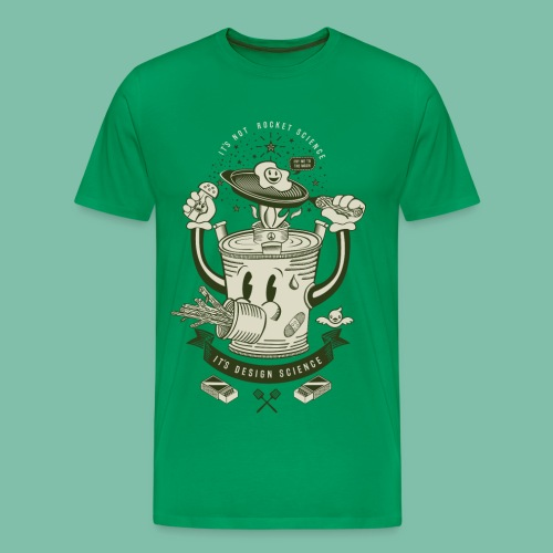 Mr Rocket Stove (green) - Men's Premium T-Shirt