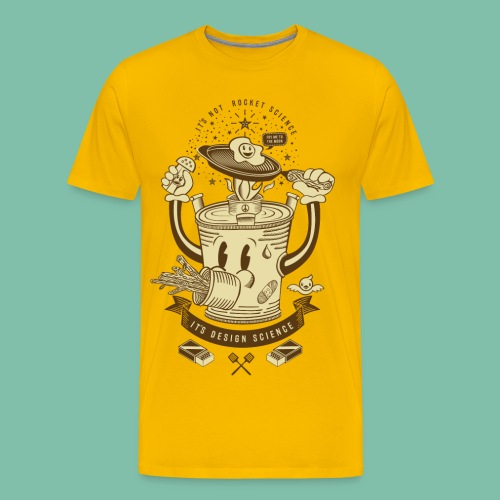 Mr Rocket Stove (sepia) - Men's Premium T-Shirt
