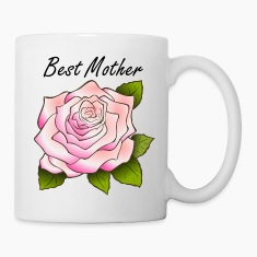 Best Mother Pink Rose Mug