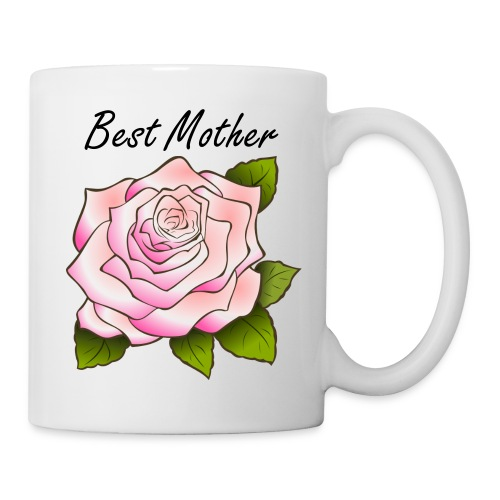 Best Mother Pink Rose Mug - Coffee/Tea Mug