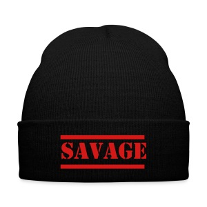 Savage - Knit Cap with Cuff Print