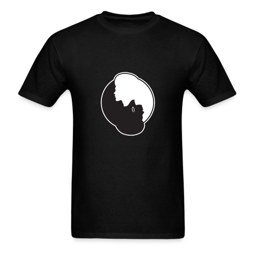 Male/Female Afro Yin Yang - Men's T-Shirt
