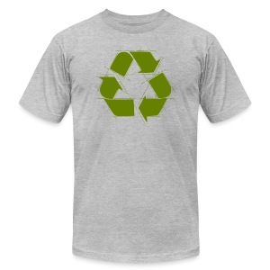 Recycle Logo Design - Men's T-Shirt by American Apparel