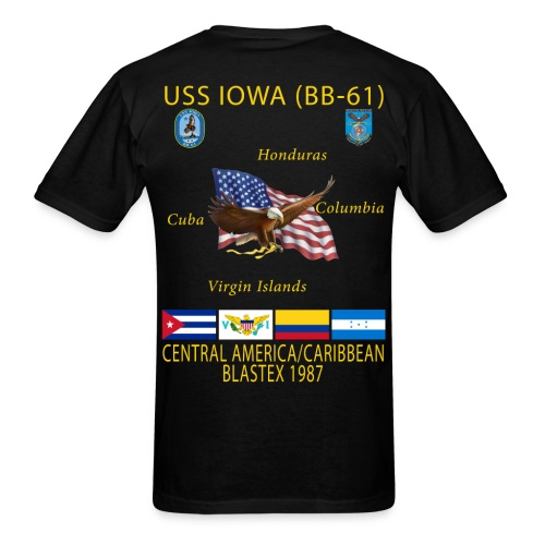 USS IOWA 1987 CRUISE SHIRT - Men's T-Shirt