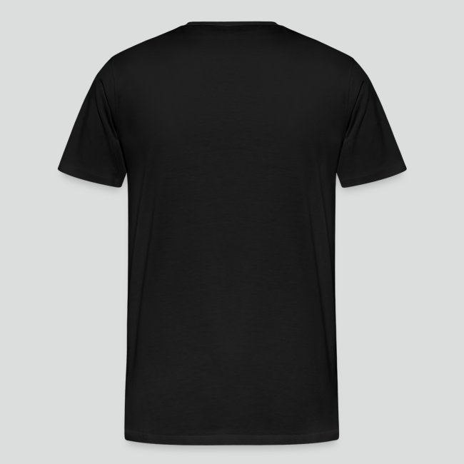 Men's T-Shirt (White Logo) Available Up To 5X