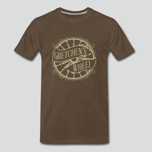 Men's T-Shirt (Tan Logo) Available Up To 5X - Men's Premium T-Shirt