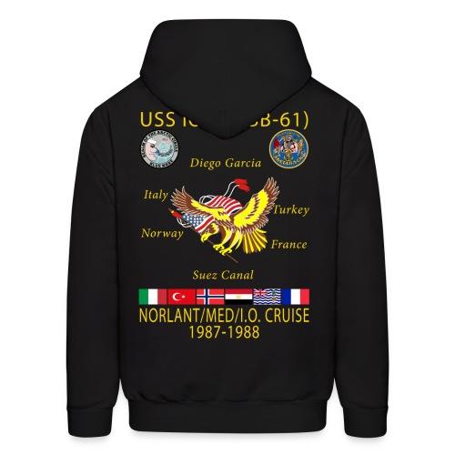 USS IOWA 1987-88 CRUISE HOODIE - Men's Hoodie