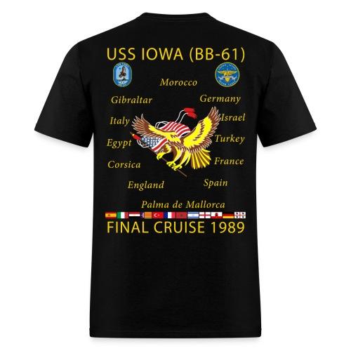 USS IOWA 1989 FINAL CRUISE SHIRT  - Men's T-Shirt