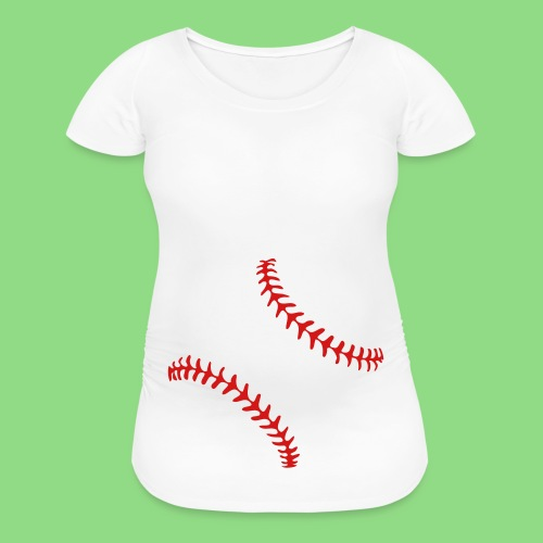 Baseball Baby Bump - Women's Maternity T-Shirt