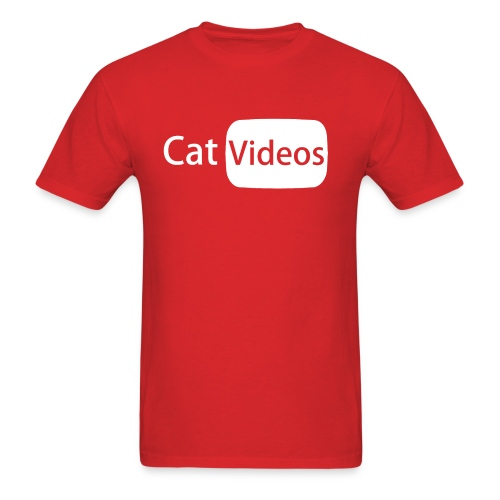YouTube logo: CatVideos (Men's Shirt) - Men's T-Shirt