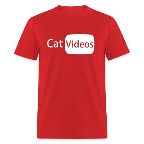 YouTube logo: CatVideos (Men's Shirt) - Men's T-Shirt