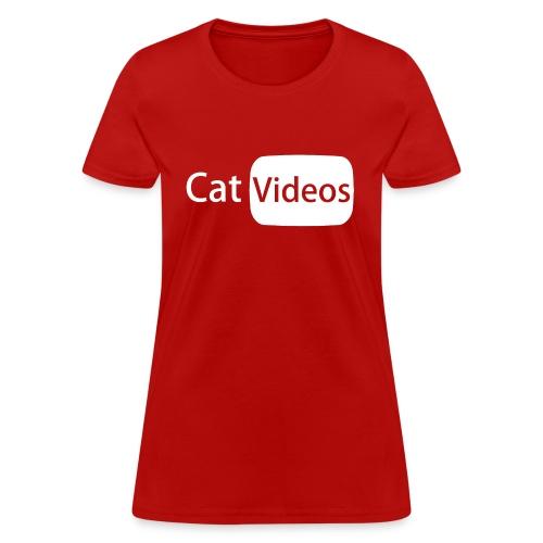 YouTube logo: CatVideos (Women's Shirt) - Women's T-Shirt