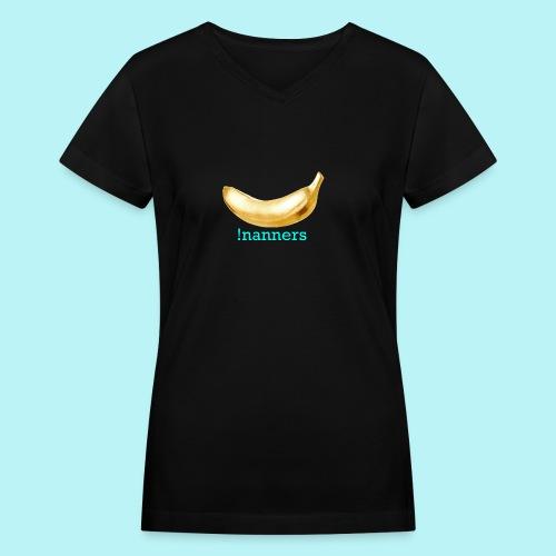 !nanners  - Women's V-Neck T-Shirt