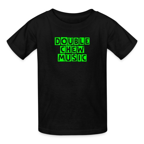 Double Chew Music Kids neon green T - Kids' T-Shirt