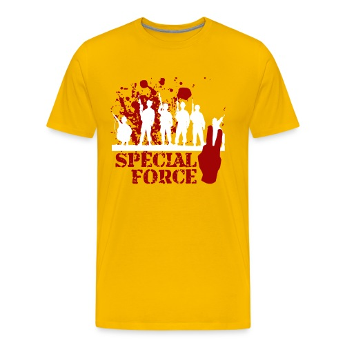 SPECIAL FORCE 2 (WHITE/RED) - Men's Premium T-Shirt