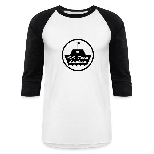 SS FL BLACK ON BASEBALL TEE - Baseball T-Shirt