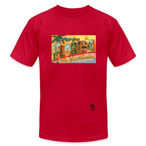 Vintage Florida Postcard Men's T-Shirt - Men's  Jersey T-Shirt
