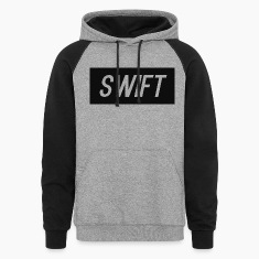 Mens Black & Grey - Hoodie : Swift Logo