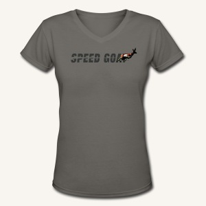 Speed Goat Womens V-cut Tee - Women's V-Neck T-Shirt