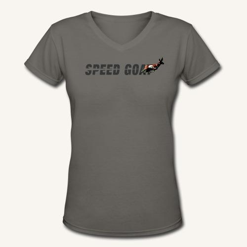 Speed Goat Womens V-cut Tee - Women's V-Neck T-Shirt