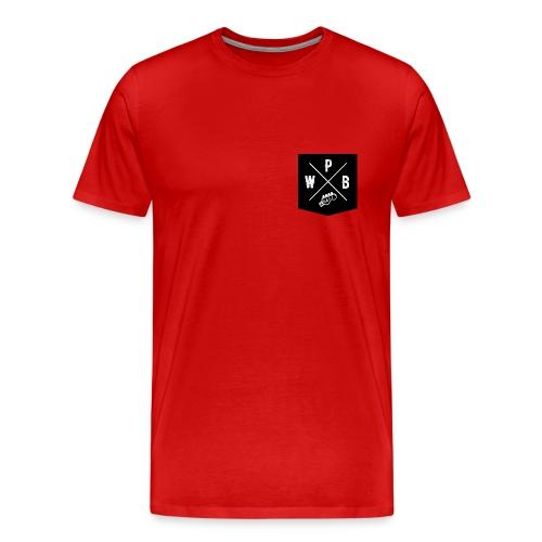 WPB POCKET FRONT // LARGE LOGO BACK - Men's Premium T-Shirt
