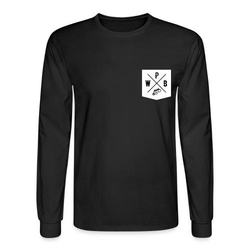 WPB POCKET FRONT // LARGE LOGO BACK - Men's Long Sleeve T-Shirt