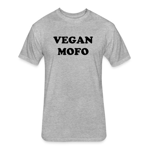 Vegan Mofo T - Fitted Cotton/Poly T-Shirt by Next Level