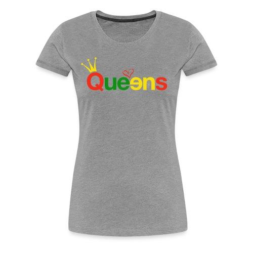 Grey Color splash  - Women's Premium T-Shirt