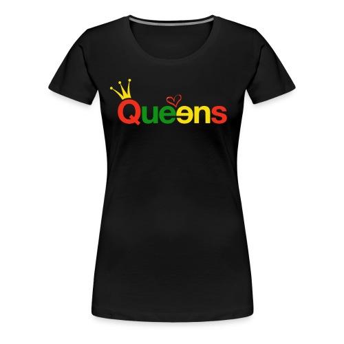 Queens Color Splash women's tee - Women's Premium T-Shirt