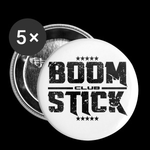 Boomstick logo pins - Large Buttons