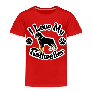 Love my Rottie - Toddler Premium T-Shirt