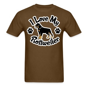 Love my Rottie - Men's T-Shirt