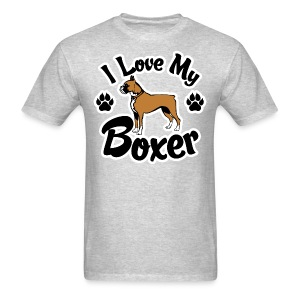 I Love My Boxer Dog - Men's T-Shirt