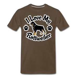 Love my Rottie - Men's Premium T-Shirt
