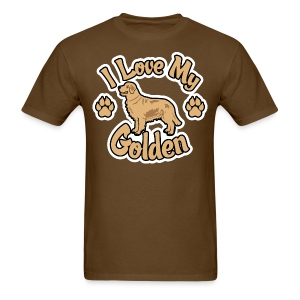 Love Golden Retrievers - Men's T-Shirt