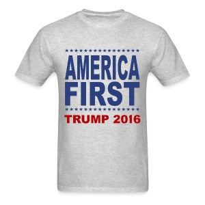 America-First-Trump-2016-2 - Men's T-Shirt