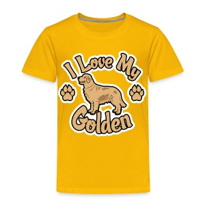Love Golden Retrievers - Toddler Premium T-Shirt