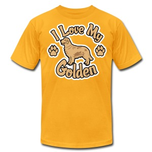 Love Golden Retrievers - Men's T-Shirt by American Apparel