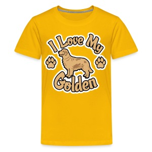 Love Golden Retrievers - Kids' Premium T-Shirt