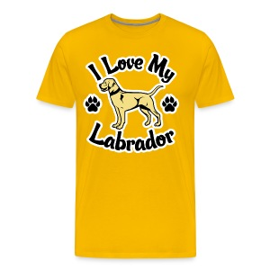 Love My Yellow Labrador or Lab - Men's Premium T-Shirt