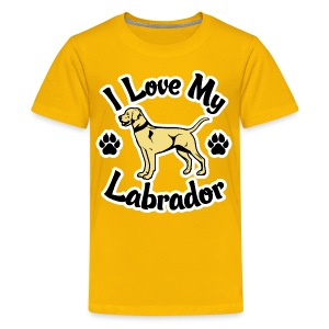 Love My Yellow Labrador or Lab - Kids' Premium T-Shirt