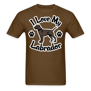 I Love My Chocolate Lab - Men's T-Shirt