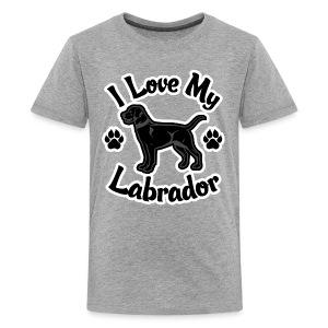 Love My Black Lab - Kids' Premium T-Shirt