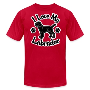 Love My Black Lab - Men's T-Shirt by American Apparel