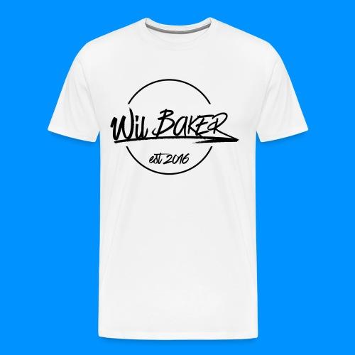 Large Wil Baker Logo - Men's Premium T-Shirt