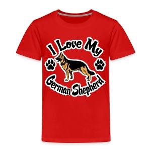 Love My German Shepherd - Toddler Premium T-Shirt
