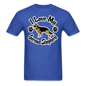 Love My German Shepherd - Men's T-Shirt
