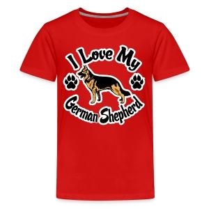 Love My German Shepherd - Kids' Premium T-Shirt